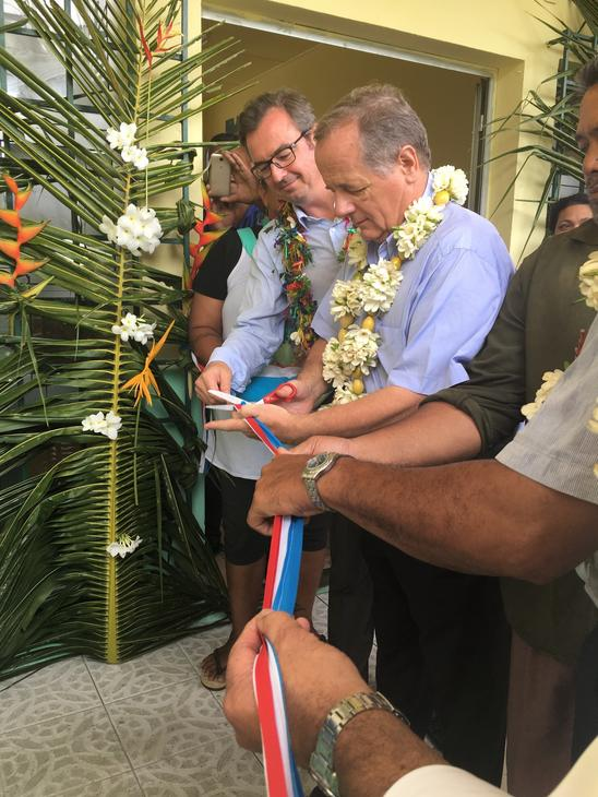 Photo 4 : Inauguration du DAB à Futuna
